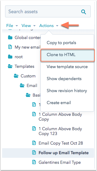 clone to file