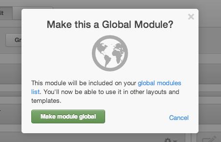 Hacer módulo global