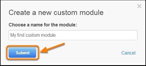 Nombrar el módulo personalizado