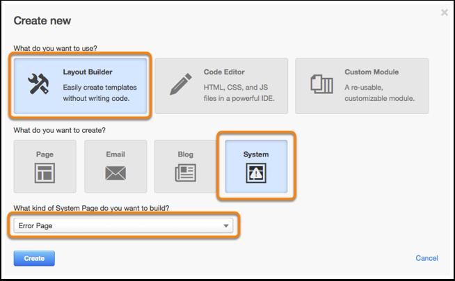 Create system template