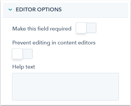 options-éditeur-champ
