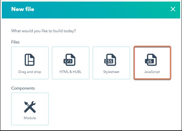 Add a JavaScript file to HubSpot