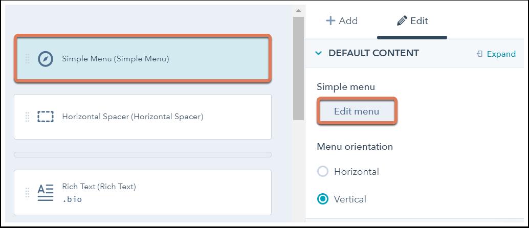 simple-menu-edit-menu