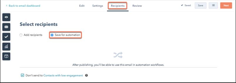 Enregistrer pour automatisation