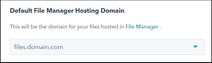 Choose domain