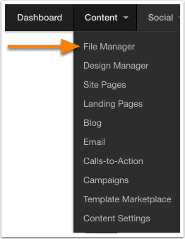 Navigate to File Manager