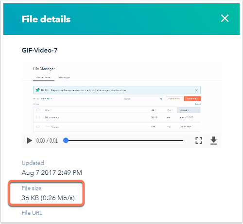Upload files to use in your HubSpot content