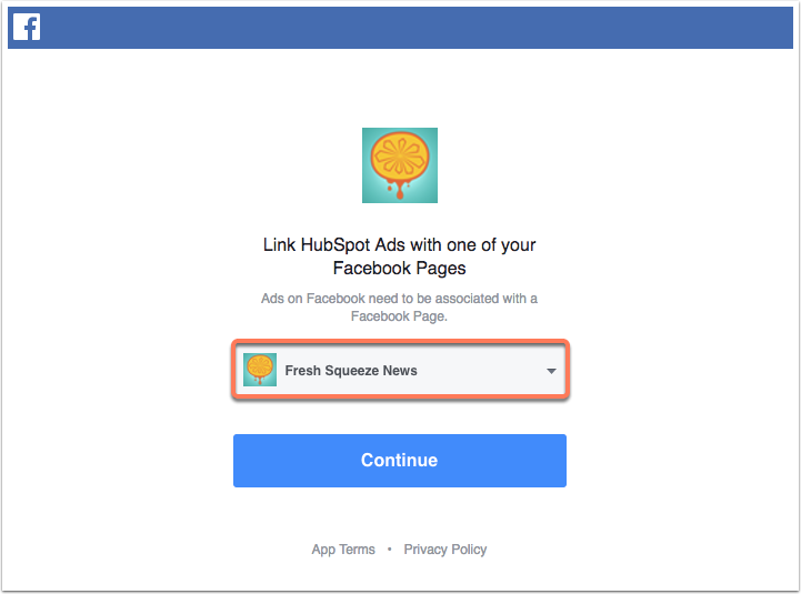 lead-ads-select-facebook-page