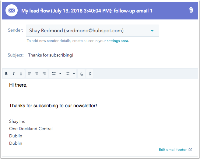 Follow-up-E-Mail eines Lead-Flow