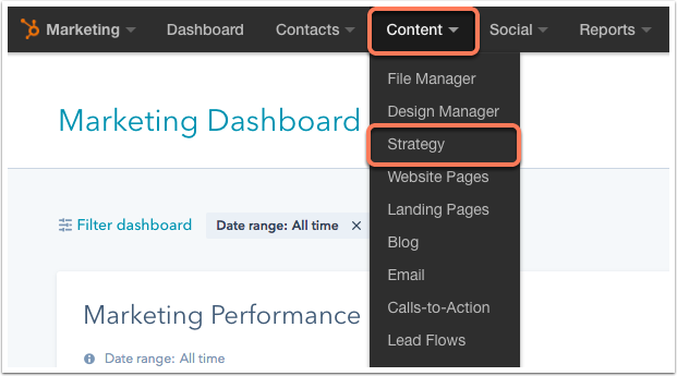 Das Content-Strategie-Tool in HubSpot