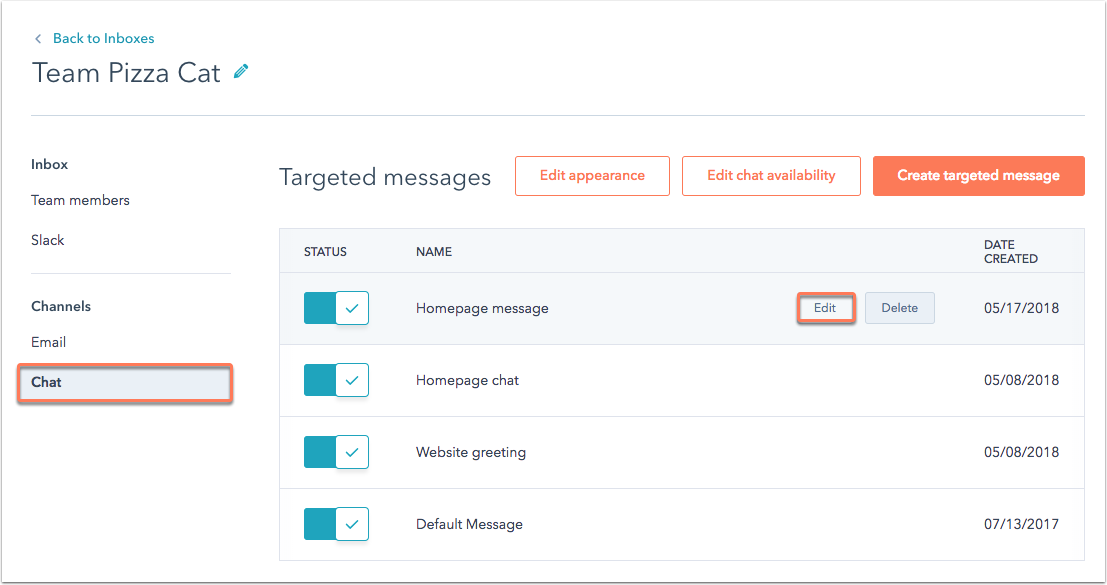 targeted-message-settings