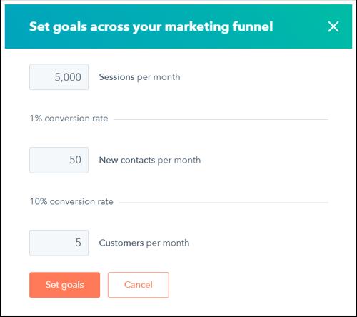 how do i set smart goals in hubspot