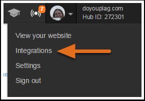 [Integrations(外部ツールとの連携)]メニュー項目