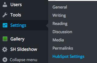 HubSpot Settings