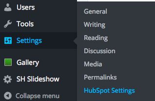 HubSpot Settings