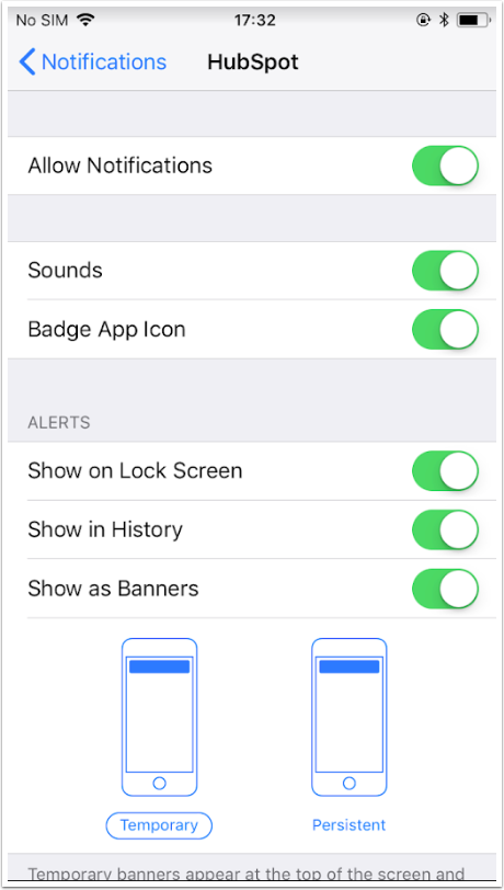 mobile-hubspot-settings
