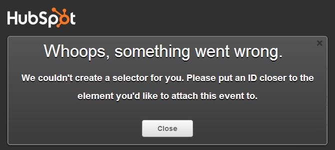 Events bookmarklet error
