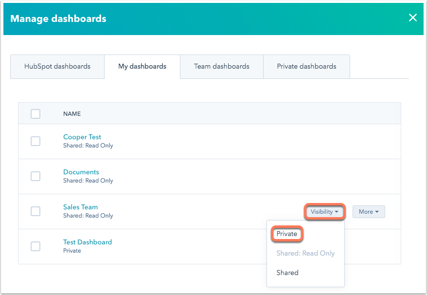 private-dashboard-manager