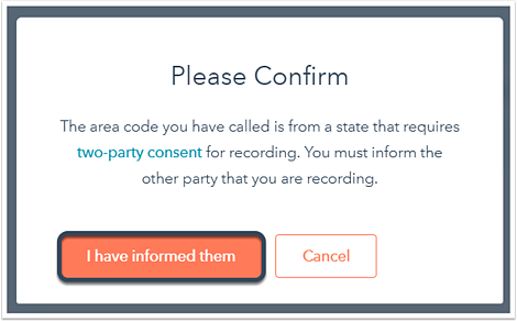 Call recording not saved in HubSpot