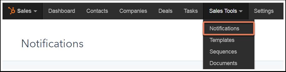 "Das Menu ""Sales-Tools"" in HubSpot Sales"