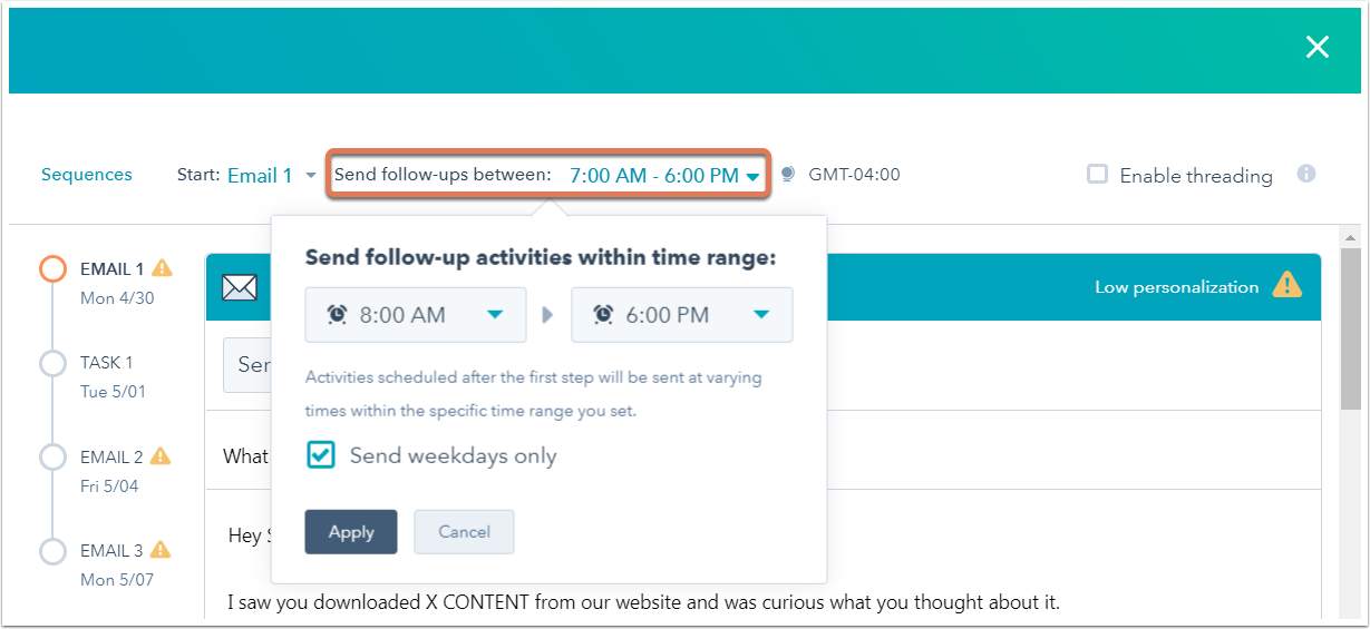 default-send-times