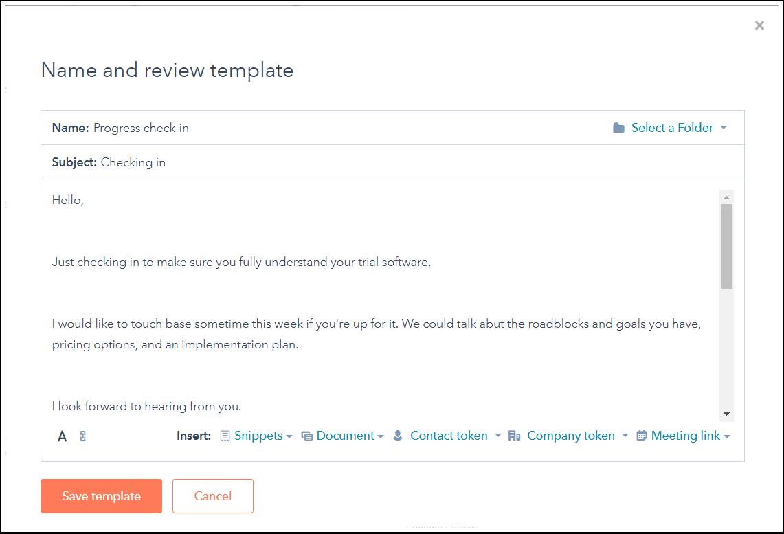 Captura de tela do artigo de Ajuda da HubSpot