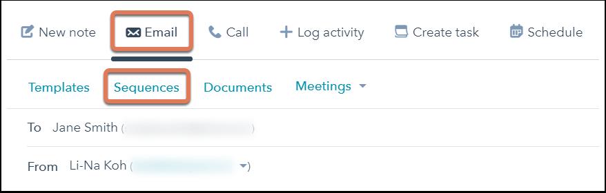 HubSpot Sales – Sequenzen – Kontakte im CRM in Sequenz aufnehmen