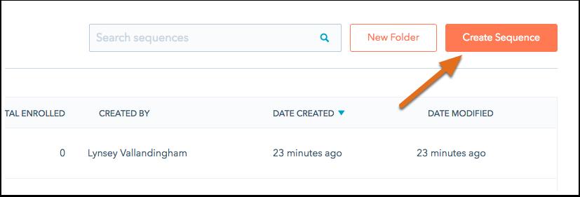 HubSpot Sales – Sequenzen – Sequenz erstellen