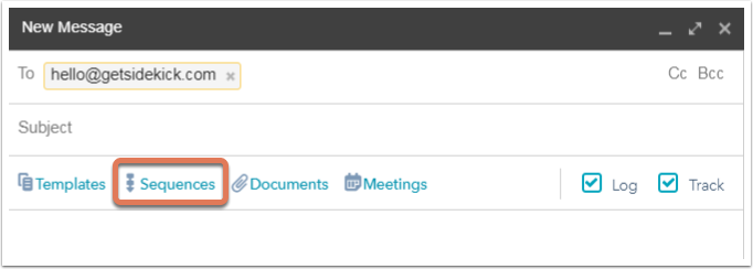 HubSpot Sales – Sequenzen – Kontakte in Gmail in Sequenz aufnehmen
