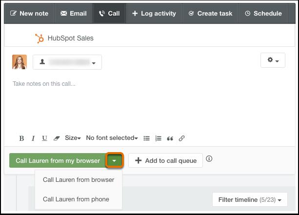 HubSpot CRM – Calling – Anrufen über Telefon oder Browser