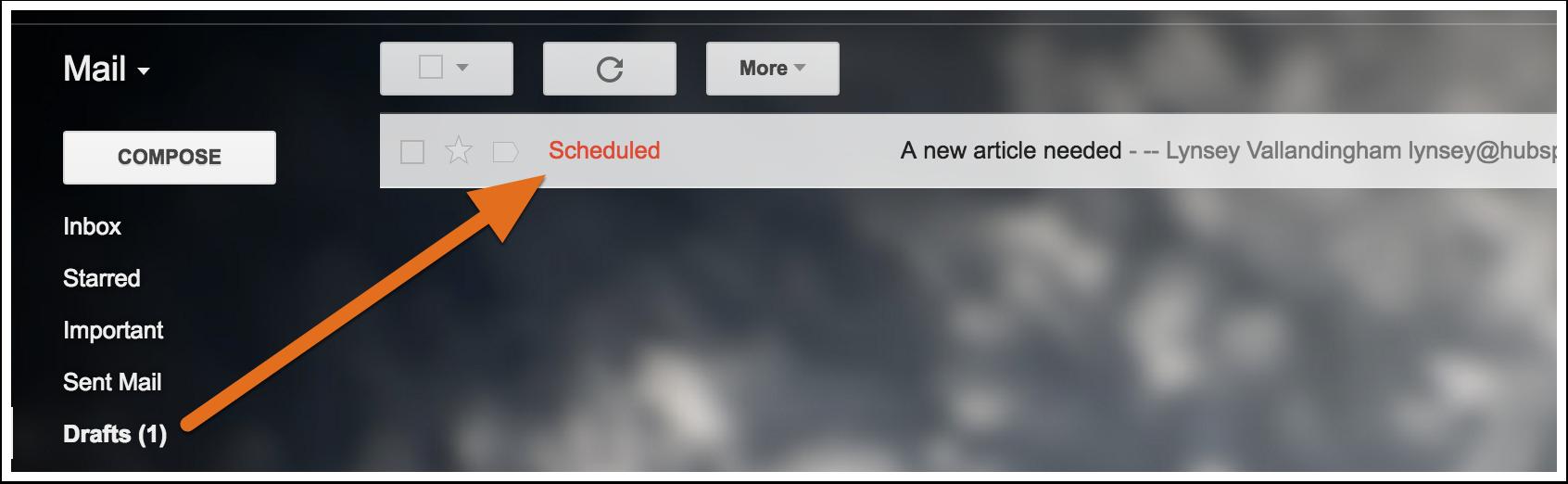 """Geplante E-Mails werden im Ordner """"Entwürfe"""" gespeichert"""