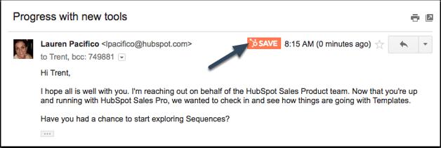 gmailでhubspot salesのテンプレートを保存する方法