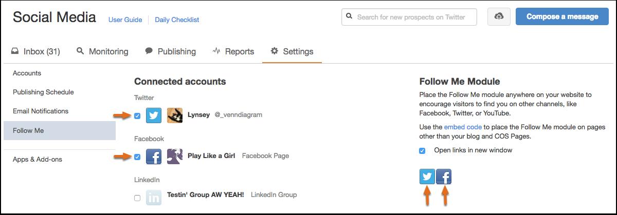 how to add accounts to followmee