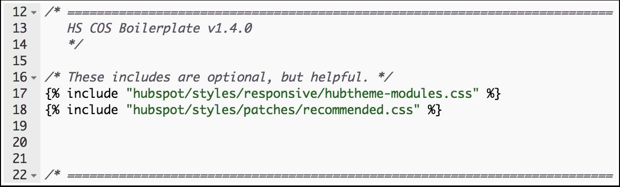 Archivos CSS incluidos
