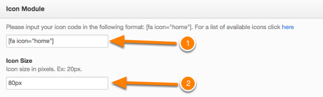 Editor del módulo de iconos