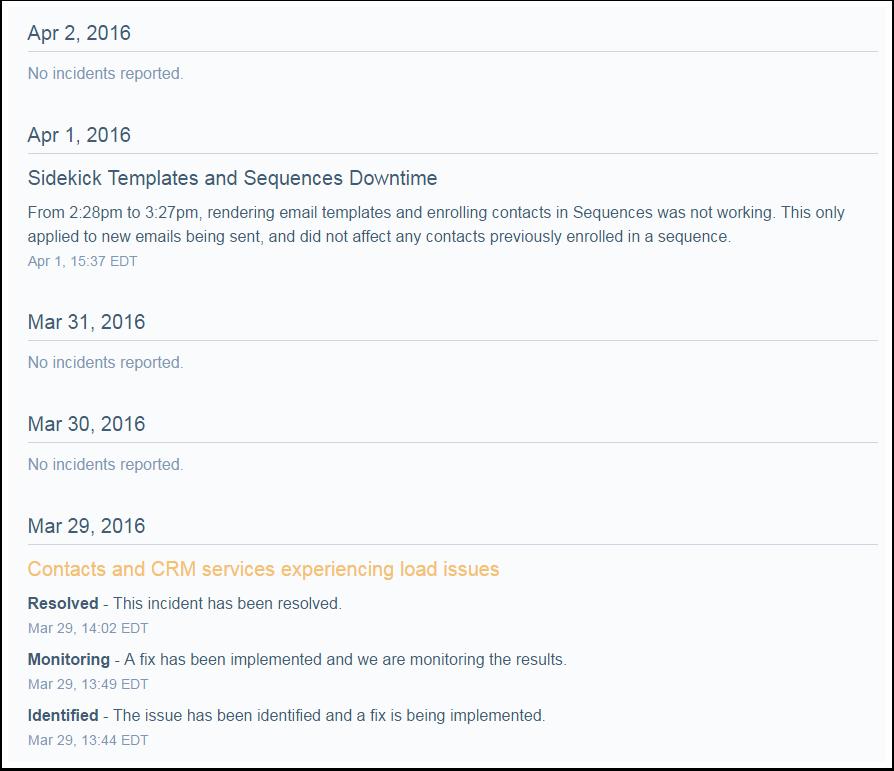 Issue Updates