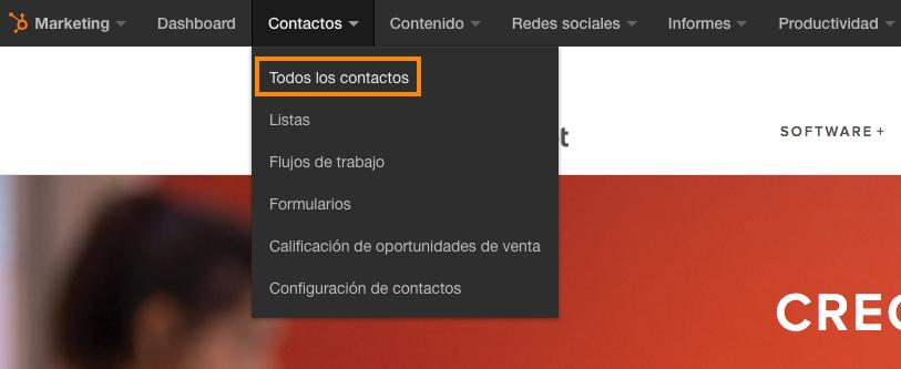 Todos los contactos