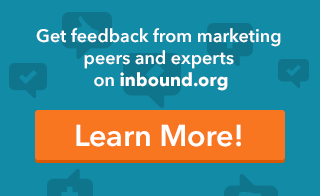 Get feedback from marketing peers and experts on inbound.org