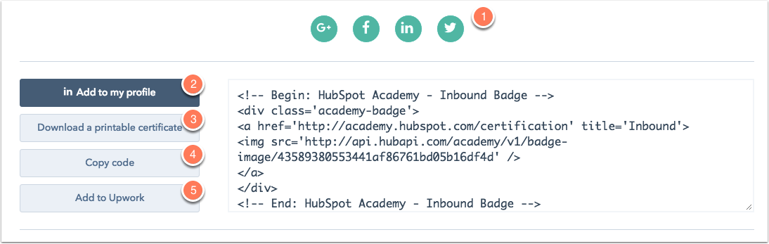 view your hubspot certification
