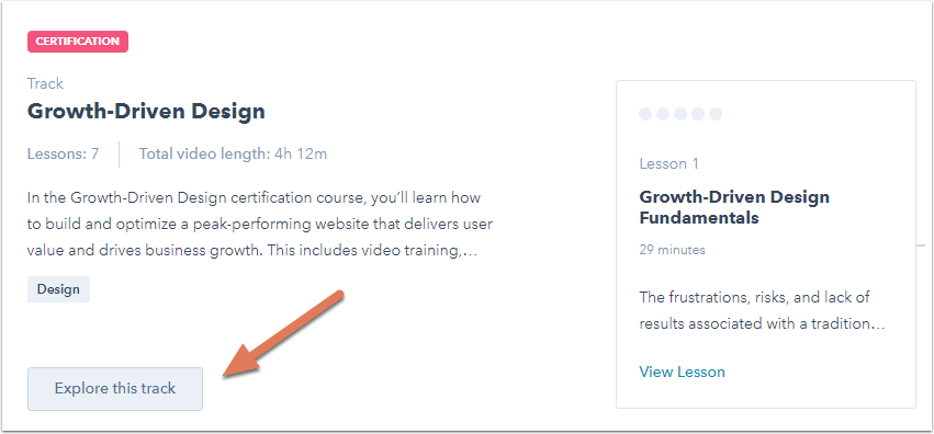 take track test pass certification again did resources lesson tab each knowledge