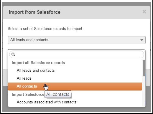 Salesforceからのインポート