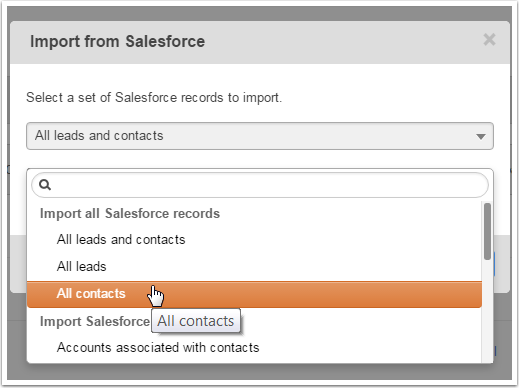 Importer de Salesforce