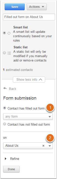 Form Submission on Page