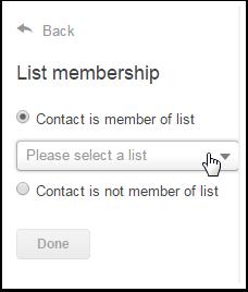 Criterios para la lista O