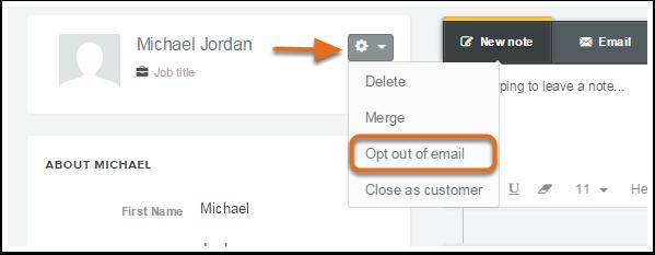 Cancelar suscripción del correo electrónico