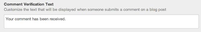 Texto verificacion comentarios