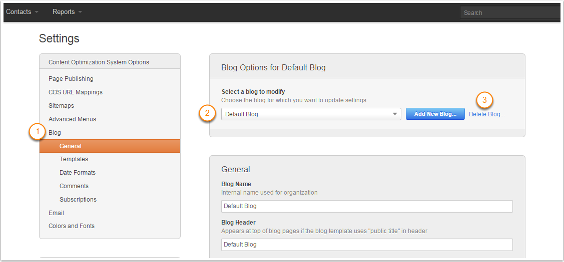 how to delete wix blog