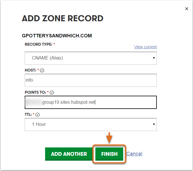 GoDaddy---Create-a-CNAME-record-with-the-information-from-HubSpot-May-2015