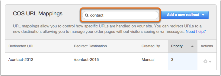 Search for a URL mapping