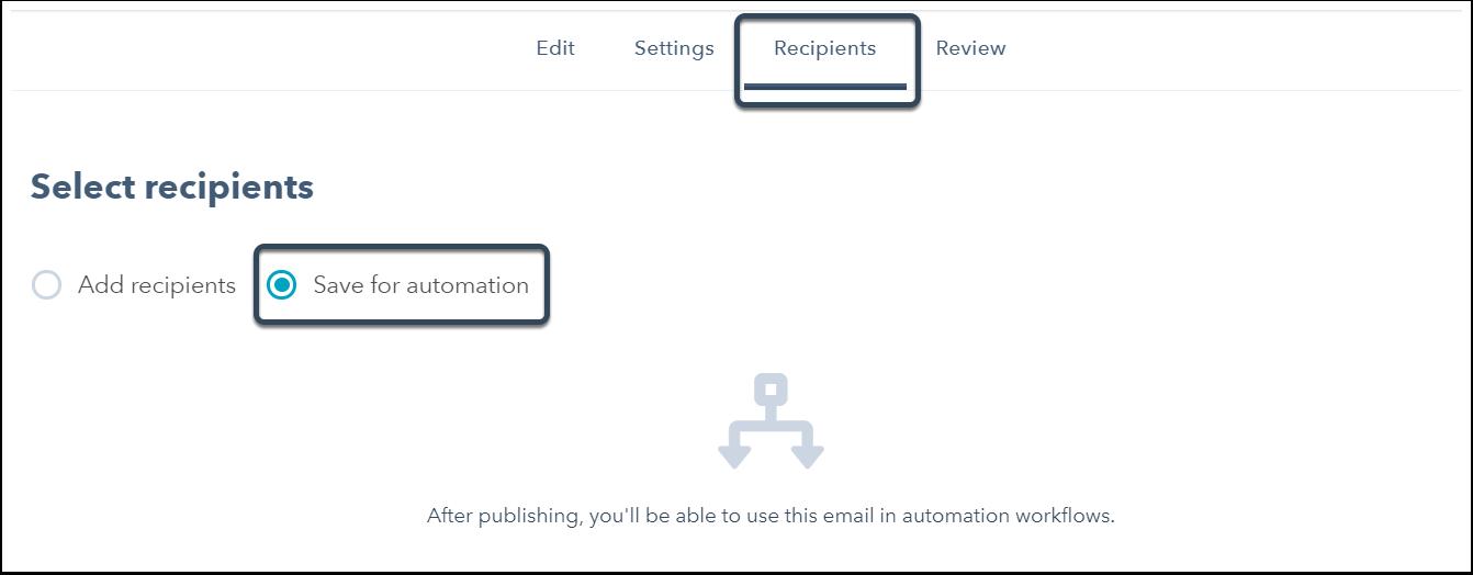 Enregistrer pour automation